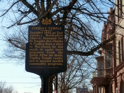 Tindley Temple Marker image. Click for full size.