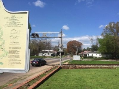 View of marker looking north on Lapsley Road. image. Click for full size.