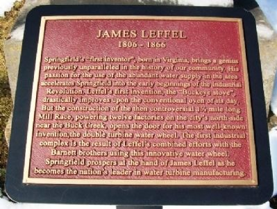 James Leffel Marker image. Click for full size.
