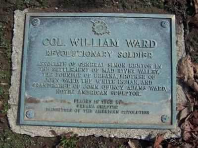 Col. William Ward Marker image. Click for full size.