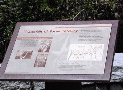 Waterfalls of Yosemite Valley Marker image. Click for full size.