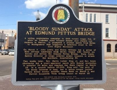 'Bloody Sunday' Attack at Edmund Pettus Bridge (Side 1) image. Click for full size.