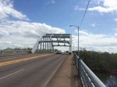 Edmund Pettus Bridge across Alabama River. image. Click for full size.