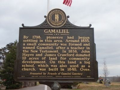 GAMALIEL Marker - front image. Click for full size.
