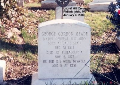 George Gordon Meade grave marker image. Click for full size.