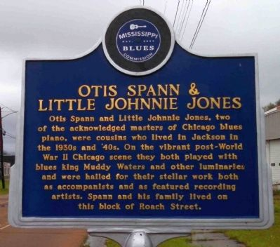Otis Spann & Little Johnnie Jones Marker image. Click for full size.