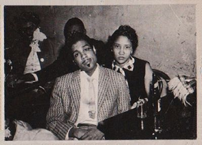 Little Johnny Jones and his wife Letha image. Click for full size.