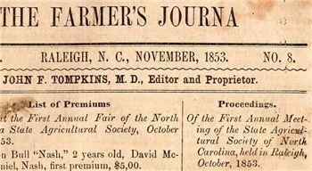 Excerpt of Farmer's Journal 1853 image. Click for full size.