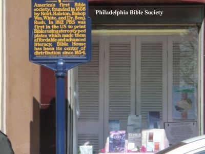 Pennsylvania Bible Society Marker image. Click for full size.
