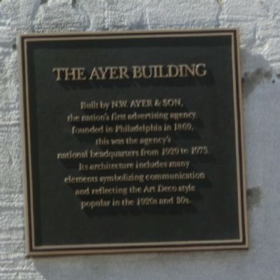 The Ayer Building Marker image. Click for full size.