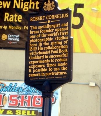 Robert Cornelius Marker image. Click for full size.