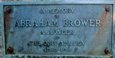Abraham Brower Marker image. Click for full size.