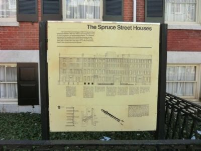 The Spruce Street Houses Marker image. Click for full size.