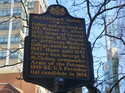 McClellan House Marker image. Click for full size.
