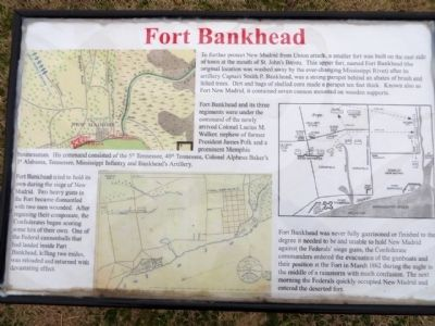 Fort Bankhead Marker image. Click for full size.
