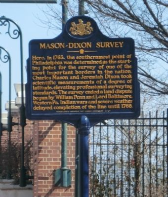Mason-Dixon Survey Marker image. Click for full size.