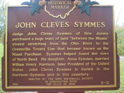 John Cleves Symmes Marker image. Click for full size.