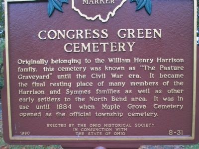 Congress Green Cemetery Marker image. Click for full size.