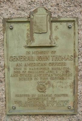 General John Thomas Marker image. Click for full size.