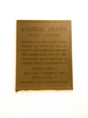 Memorial Stadium Marker image. Click for full size.