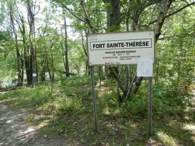 Fort Sainte-Thérèse Archaeology Site image. Click for full size.