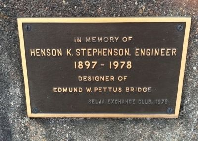 Edmund Pettus Bridge plaque image. Click for full size.