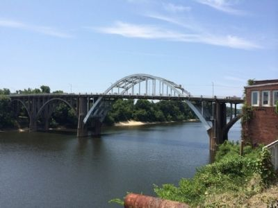 Edmund Pettus Bridge above Alabama River. image. Click for full size.
