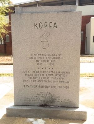 Dallas County Korean War Memorial (Front) image. Click for full size.