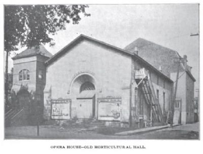 Horticultural Hall c. 1899 image. Click for full size.