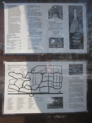 Mount Albion Cemetery Map, Rules, History, Fees. image. Click for full size.