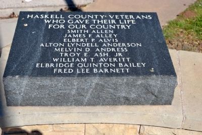 Haskell County Veterans<br>Who Gave Their Life for Our Country image. Click for full size.