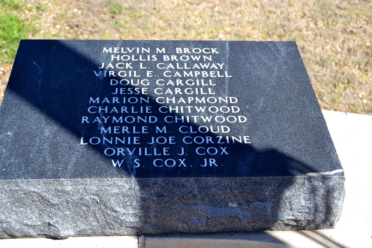 Haskell County Veterans<br>Who Gave Their Life for Our Country