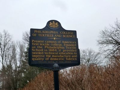 Philadelphia College of Textiles and Science Marker image. Click for full size.