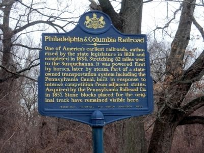 Philadelphia & Columbia Railroad Marker image. Click for full size.