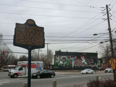 African American Baseball in Philadelphia Marker-Mural across the street image. Click for full size.
