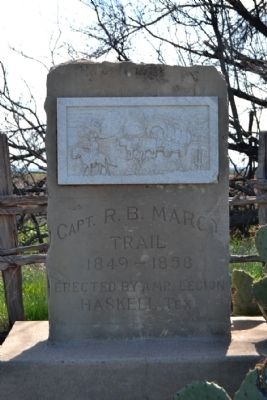 Capt. R.B. Marcy Trail Marker image. Click for full size.