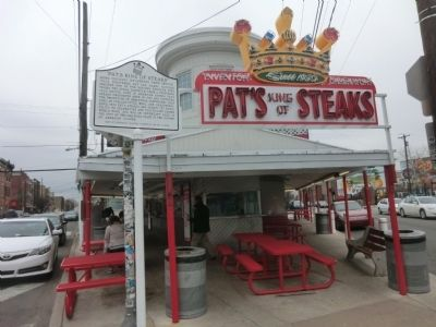 """Pat's King of Steaks"" Marker image. Click for full size."