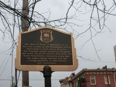 Police Department Philadelphia Marker image. Click for full size.