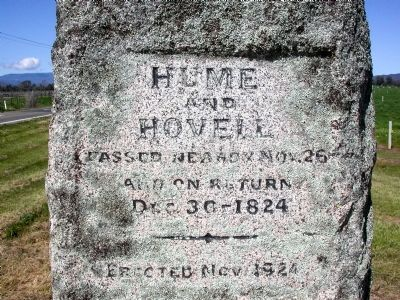 Hume and Hovell Marker image. Click for full size.
