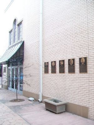 Coleman Theatre Celebrity Park Wall of Fame image. Click for full size.