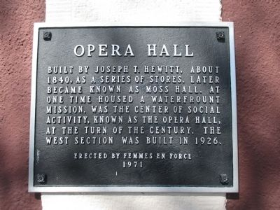 Opera Hall Marker image. Click for full size.