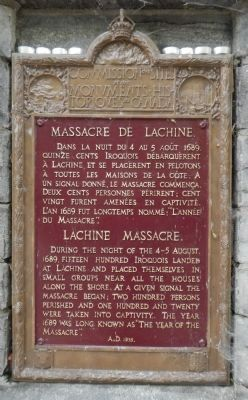 Lachine Massacre Marker image. Click for full size.