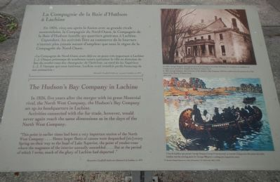 The Hudson's Bay Company in Lachine Marker image. Click for full size.