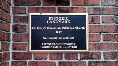 St. Mary's Ukrainian Orthodox Church Marker image. Click for full size.