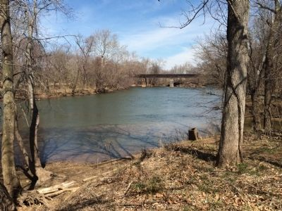 "View of the Monocacy River from the ""Desperate Escape"" marker. image. Click for full size."