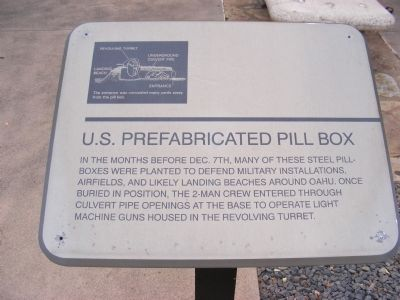 U.S. Prefabricated Pill Box Marker image. Click for full size.