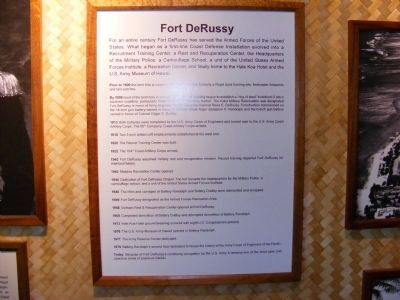 Fort DeRussy-History-picture in the museum image. Click for full size.