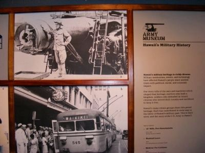 Photo of Hawaii's Military History located in the museum image. Click for full size.