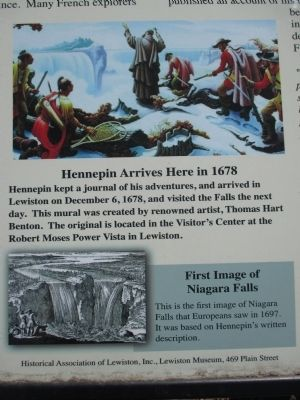 Hennepin Park Marker - Center Images image. Click for full size.