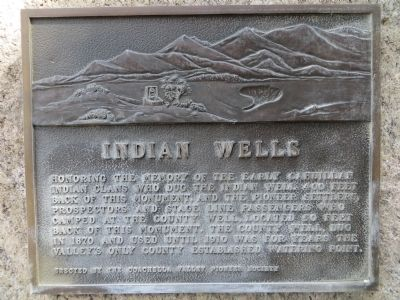 Indian Wells Marker image. Click for full size.